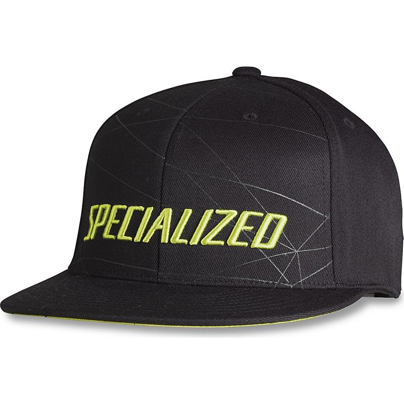 Bon� Specialized Podium Premium Fit Preto/Verde Neon