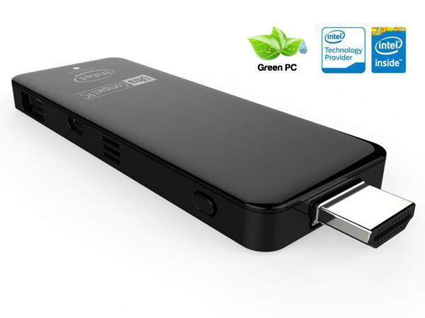 ULTRA COMPACT PC  STICK ATOM QC 1.33GHZ | RAM 2GB | HD 32GB | WIFI | BT | HDMI | USB | W10 - Z3735W