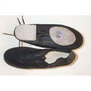 Sapato Jazz Ovinho Com Cadar�o Couro 9908