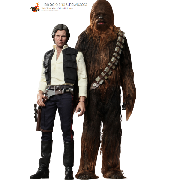 Hot Toys Han Solo and Chewbacca Set