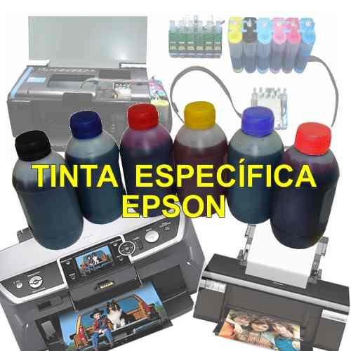 1 Litro Tinta Recarga Bulk Ink Epson T50 T720 T25 Tx125 Tx133