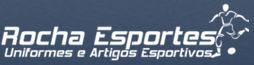 Logo Rocha Esportes Uniformes e Artigos Esportivos