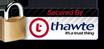 Secured by: Thawte