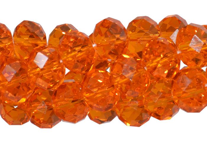 cristal de vidro laranja