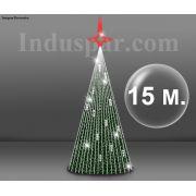 �rvore de Natal Gigante 15 Metros Modelo Glamour 220V