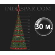 �rvore de Natal Gigante 30 Metros Modelo Decorada  - Kit F�cil Extensivel