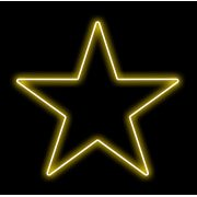 Estrela 5 Pontas Iluminada 30cm Amarela LED 127V