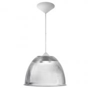 Lumin�ria Prism�tica 16 Polegadas Pendente Cristal Acabamento Pl�stico Branco - Soquete E27 - B�sica