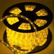 Mangueira Luminosa Amarela LED - 100 Metros 220V - Corda de Natal