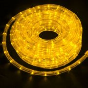 Mangueira Luminosa Amarela LED - 10 Metros 220V - Corda de Natal