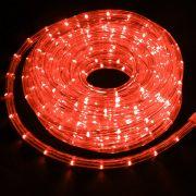 Mangueira Luminosa Vermelha LED - 10 Metros 220V - Corda de Natal