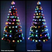Arvore de Natal 1,80 Mts Fibra Otica e Led de Bolinhas Coloridas