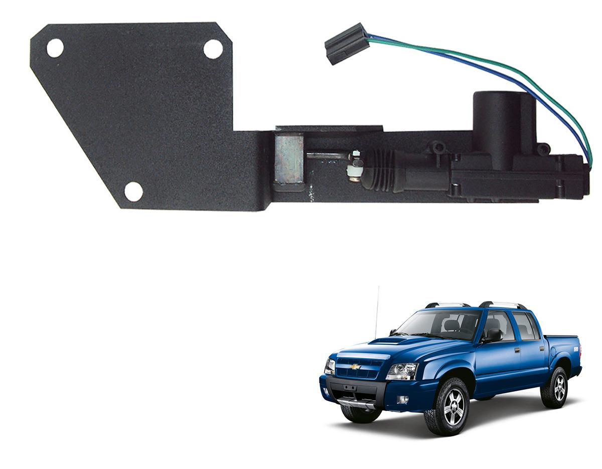 Trava tranca elétrica tampa caçamba S10 1995 a 2011