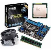 KIT Placa Mae ASUS H61M-A + Processador INTEL Core I3 3250 + 4GB