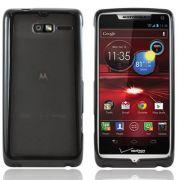Capa Tpu Flexishield + Pel�culas protetora  transparente para para Motorola Razr i XT890
