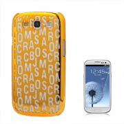 Capa Personalizada S�rie Alfabeto para Samsung Galaxy S3 S III i9300 - Laranja