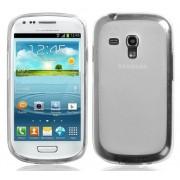 Capa de TPU Premium + Pel�cula Protetora Transparente para Samsung Galaxy S III Mini I8190 - Transparente