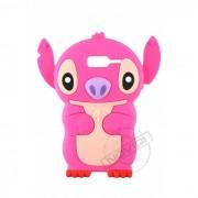 Capa Desenho Animado Stitch 3D para Motorola Razr D3 XT919 XT920 - Cor Rosa Pink