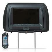 Encosto de Cabe�a Kx3 Tela 7 Pol Leitor de DVD USB SD Card Preto DVD728