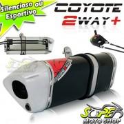 Escape / Ponteira Coyote TRS 2 Way + Mais Alum�nio Ninja 250 R - Preto - Kawasaki