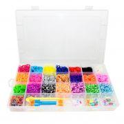 Kit De El�sticos Coloridos Para Fazer Pulseiras - 4000 El�sticos Sortidos