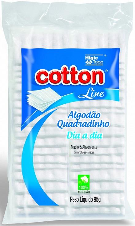 Algod�o Quadrado Multiuso 95g � Cotton Line