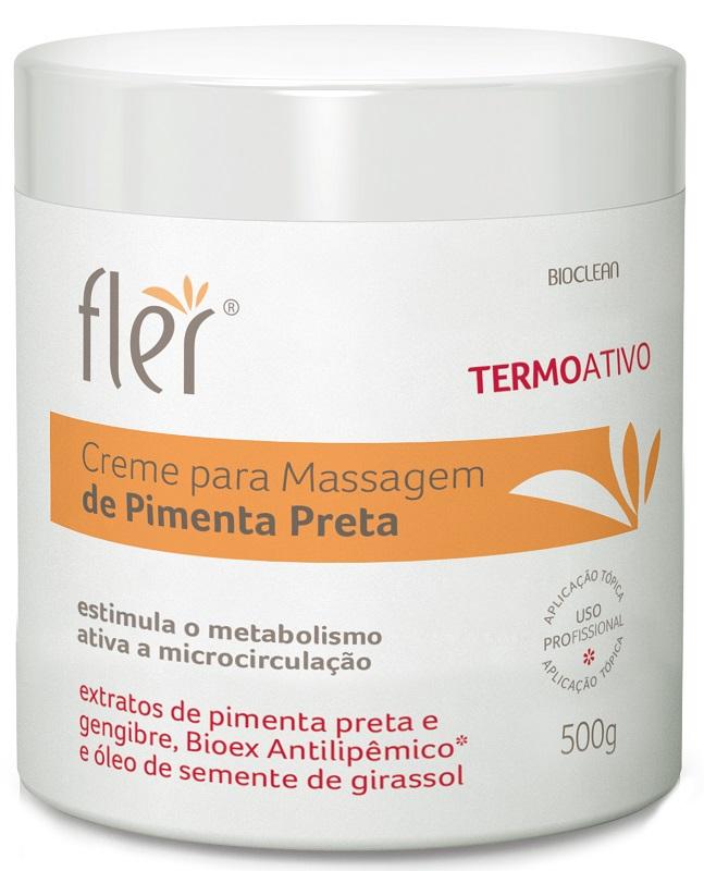 Creme Para Massagem Termoativo de Pimenta Preta 500gr