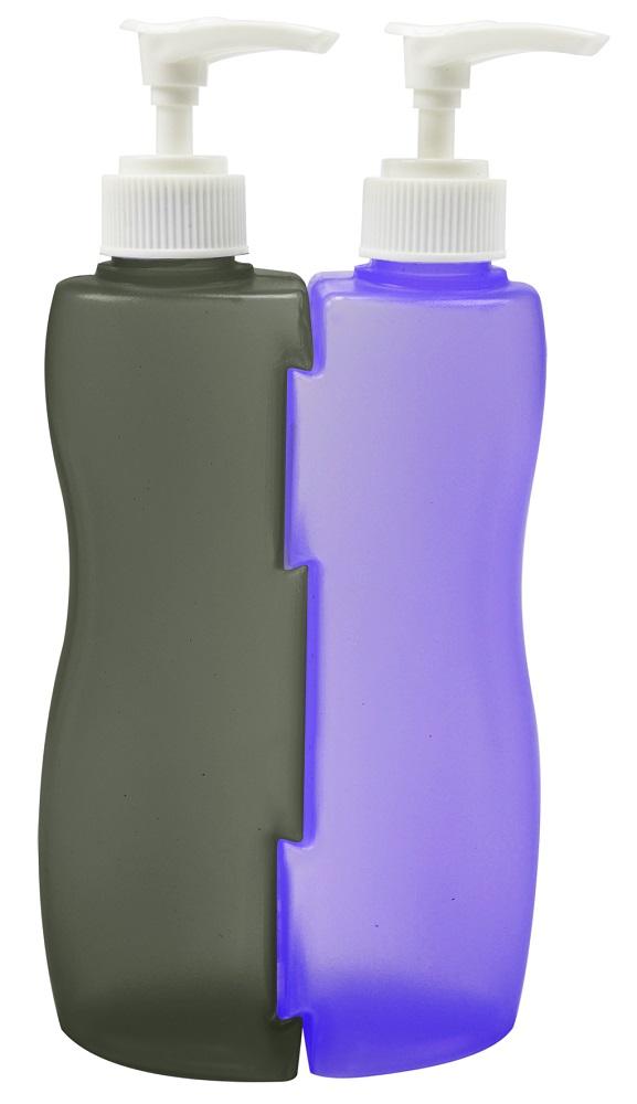 Frascos Bicolor Vazio Com V�lvula Pump 210ml - 2 Unidades