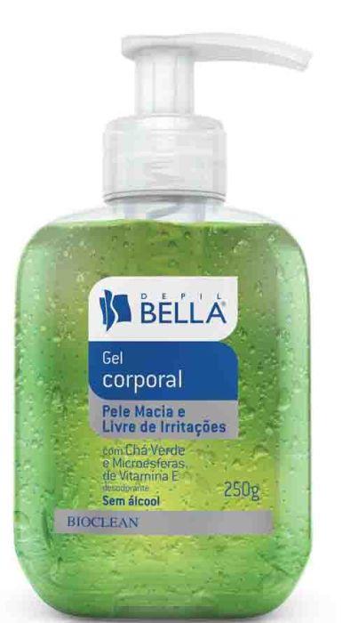 Gel Corporal Ch� Verde Depil Bella - Gel p�s Depila��o Calmante
