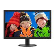 Monitor Philips 23 LED 233V5QHABP Widescreen - HDMI - VGA