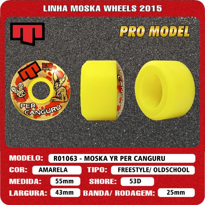 Roda Moska  55 mm - Amarela