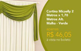 cortina quarto-sala micaely 2 metros verde