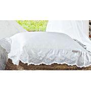 Almofada de Cama Branco em Fio Egipicio Percal 400 fios - Chiesa