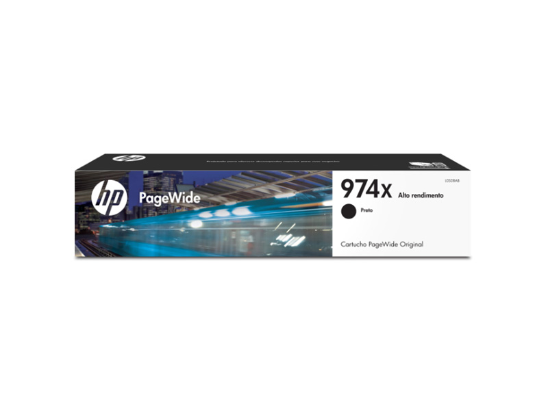 Cartucho de Tinta Officejet HP Suprimentos L0S08AB HP 974X Preto 182,5 ML