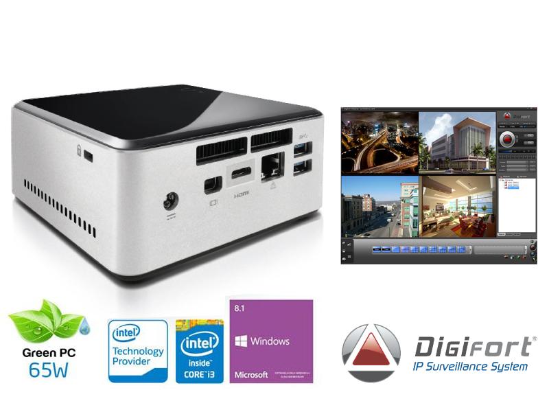 Computador Ultratop NUC Vigilancia Centrium NVR DGFST1004V7 Core I3 - 4030U 4GB 1TB Digifort 4CAM W81 LAN Wifi
