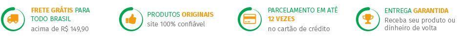 frete gr�tis para todo brasil acima de R$ 149,90 - produtos originais - site 100% confi�vel - parcelamento em at� 12x no cart�o de cr�dito - entega garantida re ceba seu produto ou dinheiro de volta