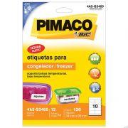 Etiqueta Congelador/Freezer 34x65mm C/ 12 Fls 4A5-Q3465 Pimaco - PORT - Inform�tica - Escrit�rio - Papelaria