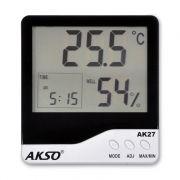 Termo-Higr�metro Digital com Rel�gio e Alarme AK27 - AKSO - Plantei Garden Center
