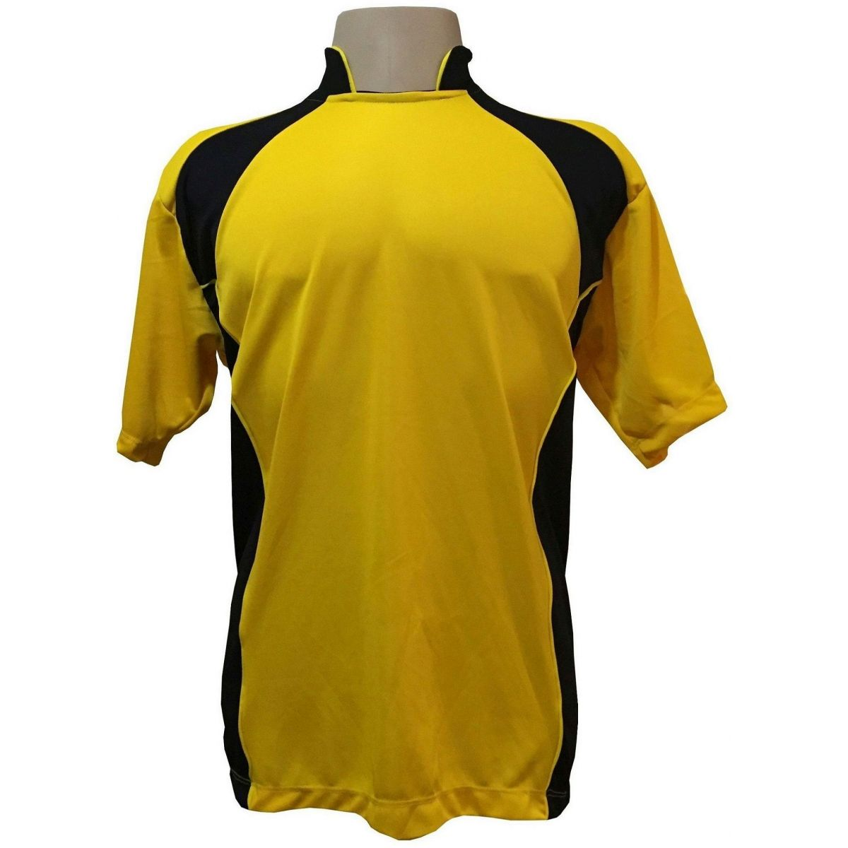 Jogo de Camisa modelo Su�cia Amarelo/Preto com 14 pe�as - Frete Gr�tis Brasil + Brindes