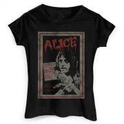 Camiseta Feminina Alice Cooper Vintage Poster