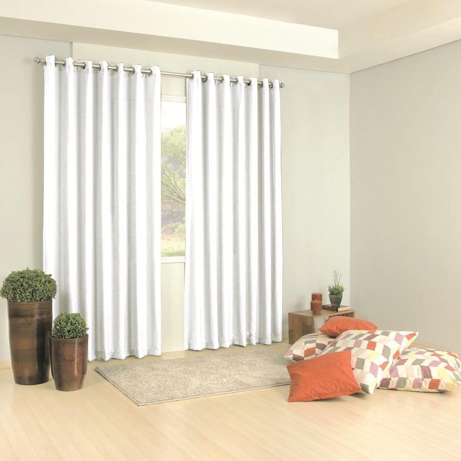 Cortina blackout tecido branca de quarto 3 m ilh s cromado - Buscar cortinas para salas ...
