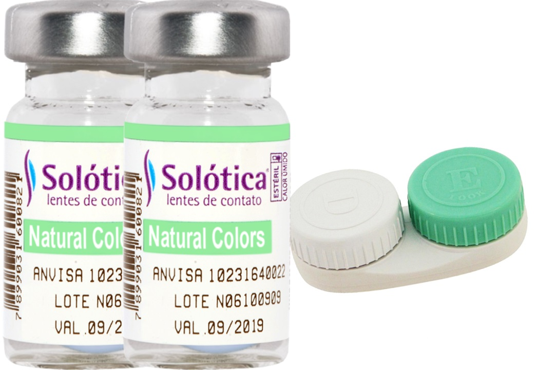 Kit com o Par Lentes de Contato Coloridas Natural Colors Solótica