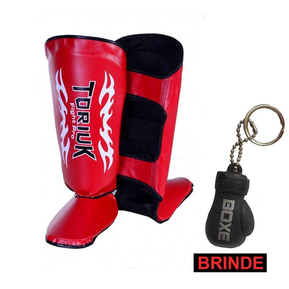Caneleiras Kick Boxing/Muay Thai Tribal  + Chaveiro Mini Luvas - Toriuk