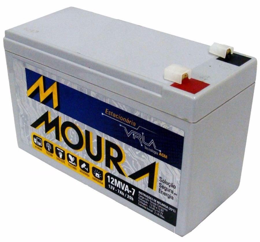 Bateria 12v 7ah selada Moura p / Nobreak Cerca elétrica Alarme