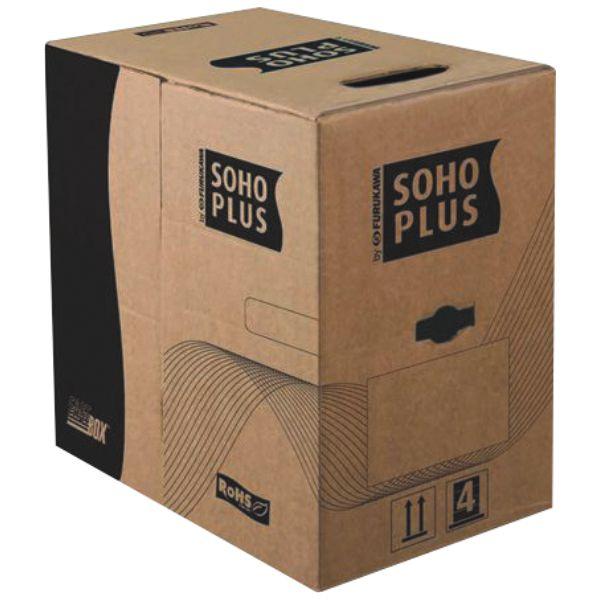 Cabo de rede Furukawa Cat 5e Soho Plus caixa com 305 Metros Azul
