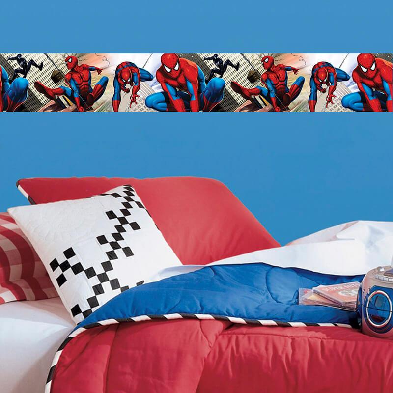 Faixa Decorativa Homem Aranha 1metro Papel De Parede em Marília