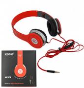 Fone Ouvido St�reo Headphone Dobr�vel A13 Vermelho