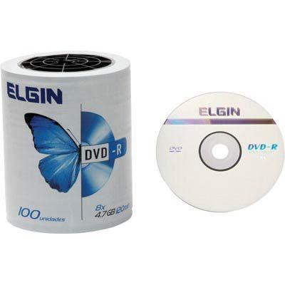 DVD - R com Logo 100 midias Elgin
