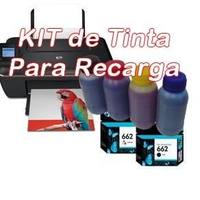 Kit de Recarga Para Cartucho Hp 662 Da 2515 2516 3515 3516