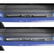 Jogo Soleira Premium Elegance Ford Novo Focus 2014 2015 - 4 Portas ( Vinil + Resinada 8 Pe�as )